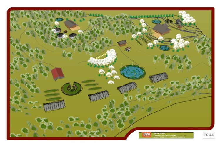 Conceptual drawing from Permaculture design project by Jesse.